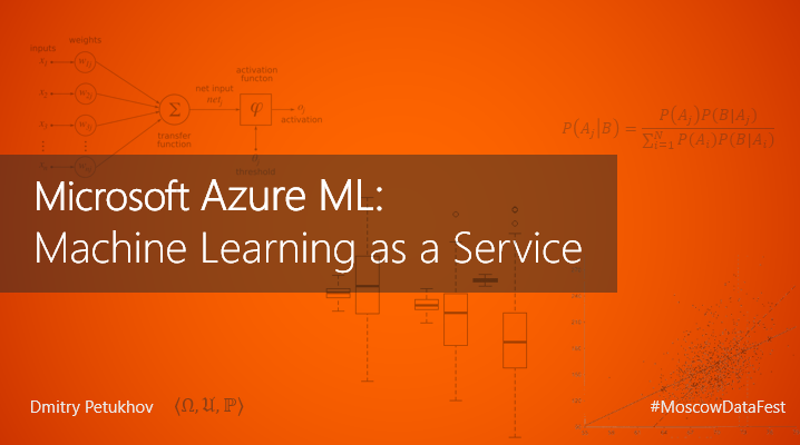 Azure ML: Machine Learning as a Service
